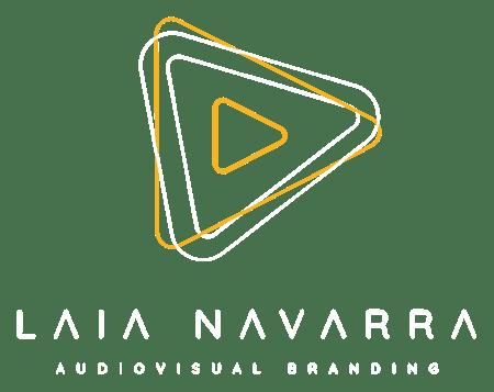 Laia Navarra Logo full white png